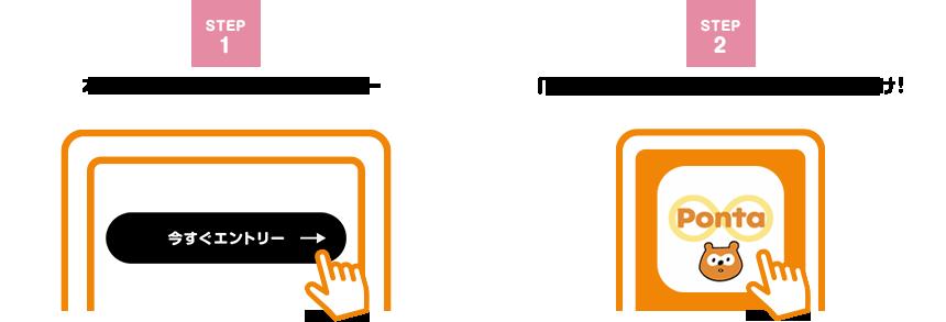 本キャンペーンページからエントリー→「Pontaカード(公式)」アプリを起動するだけ!