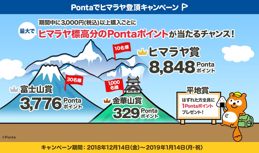 Pontaでヒマラヤ登頂キャンペーン