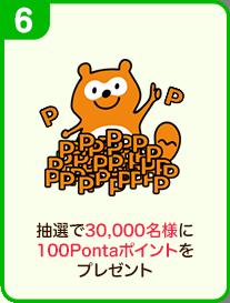 抽選で30,000名様に100Pontaポイントをプレゼント