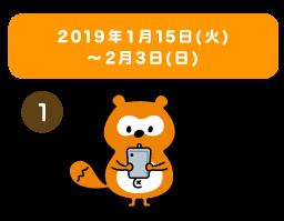 2019年1月15日(火)~2月3日(日)