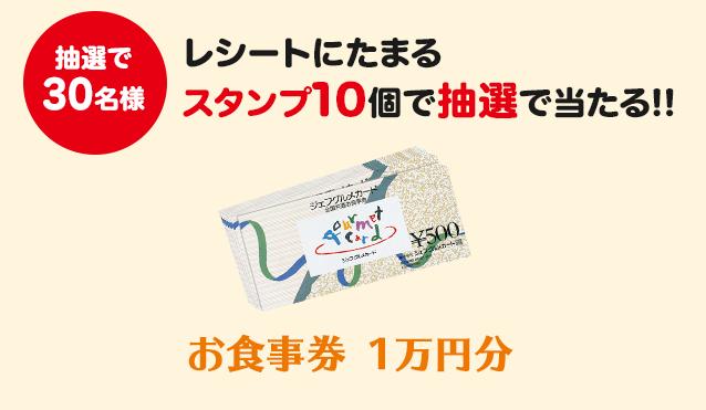 お食事券1万円分