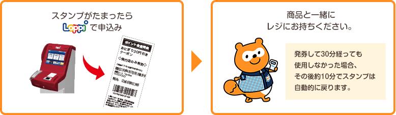値引券・北海道限定 商品無料券の引換