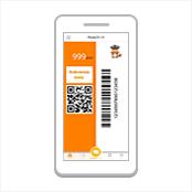 会計時に海外用デジタルPontaカードを提示する